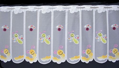 Scheibengardine in sechs Breiten Kindergardine Bistrogardine mit Schmetterling