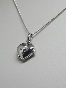 Details About Sterling Silver 925 Heart Cross Locket Pendant 16 18 20 Necklace Gift Box Uk