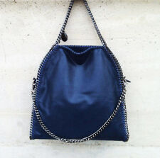 MAXI BORSA GRANDE stella mccartney CATENE Donna falabella BLUE BAG Three CHAIN