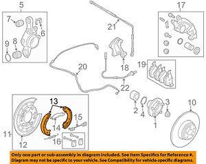 LAND ROVER OEM 06-13 Range Rover Sport Parking Brake-Shoes LR031947 ...