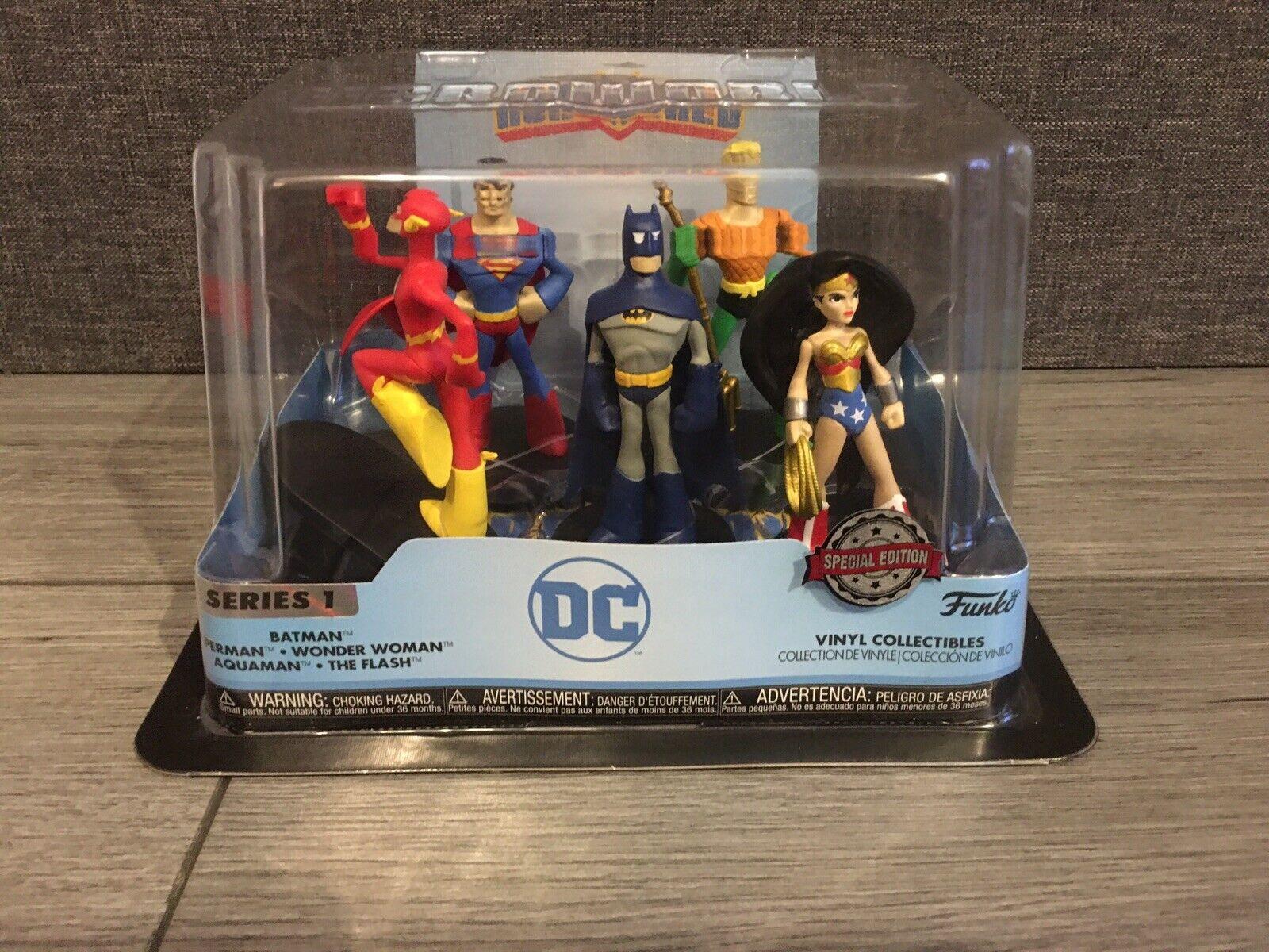 DC Super Hero 5 Figure set Heroworld Funko Vinyl Collectibles Series 8 Bnib