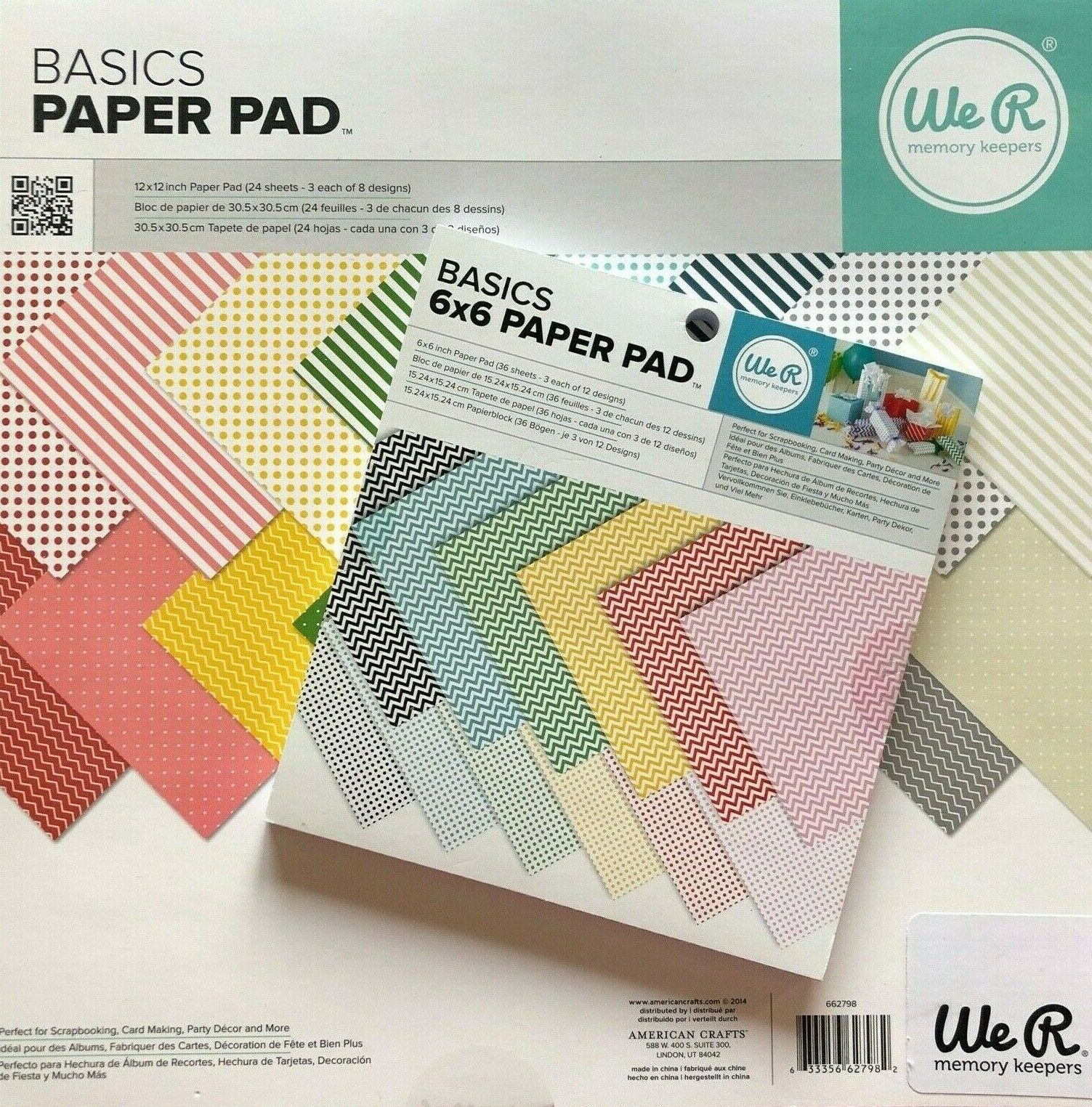 NEW CHOOSE 6x6 or 12x12 We R Memory Keepers Basics Paper Pads