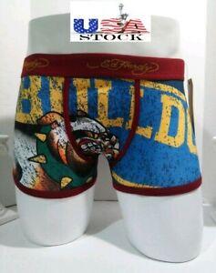 Ed Hardy Bulldog Boys Boxer Brief Large Black