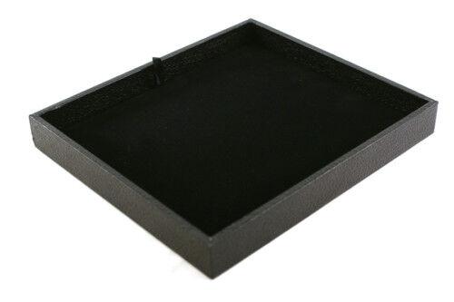 Negra plástico apilable pantalla bandeja con almohadilla de pantalla de terciopelo negro BD2-1//93-4BK