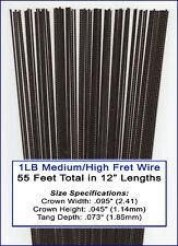 1-pound bulk lot of Guitar Frets/Fret Wire - Medium/High Nickel-Silver