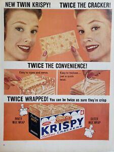 Lot-of-2-Vintage-1960-Sunshine-Krispy-Saltine-Cracker-Ads