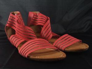 Damen Sandalette, Riemchensandalette, Rot, Auffällig, Neu, SDS, Gr. 36-41