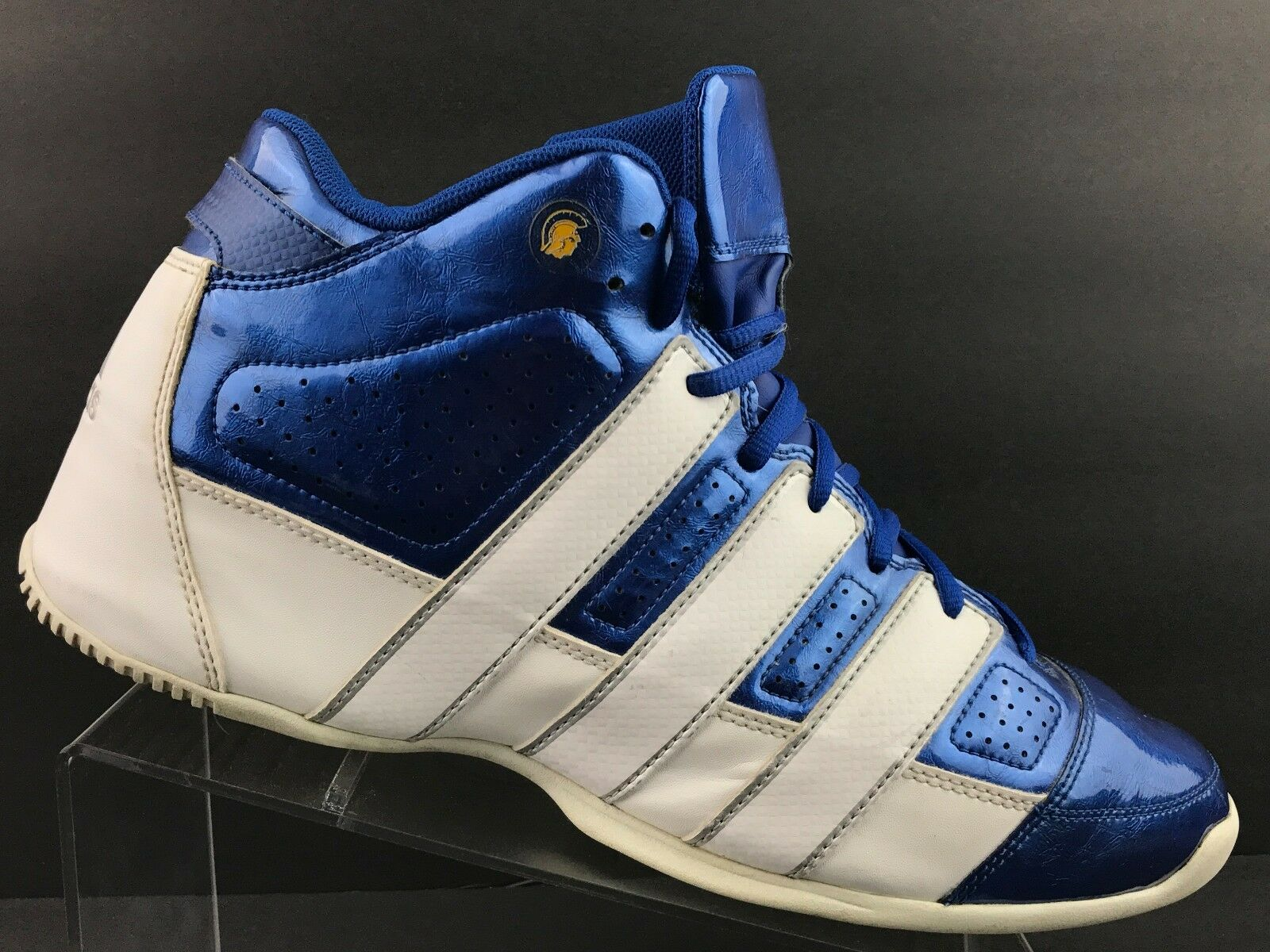 Adidas Sport Sneakers bluee White Running Athletic Basketball Lace Up shoes Sz 12