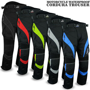 NEW-Motorbike-Motorcycle-Waterproof-Cordura-Textile-Trousers-Pants-CE-Armours