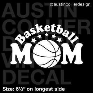 Basketball Mom Sports Vinyl 6 Inch Decal