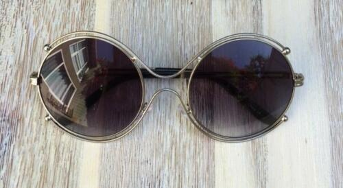 Large Round Studded Double Halo Isidora Boho Metal Celebrity Sunglasses 3877 L