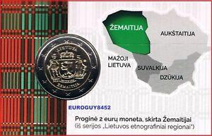 LITOUWEN - COINCARD 2 € COM. 2019 BU - ZEMAITIJA