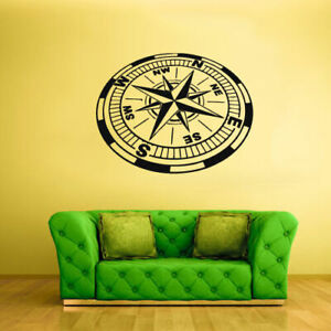 Wall-Decal-Sticker-Bedroom-Decals-Compass-Nord-East-South-West-Wind-Rose-Z1827