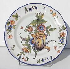 ASSIETTE ANCIENNE EN FAIENCE DE SAINT-CLEMENT - KELLER & GUERIN - 25 cm