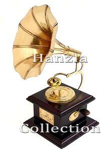 Radio, Phonograph, Tv, Phone Phonographs, Accessories Helpful Grammophon Gramophone Dekoration Trichter Grammofon Messing Antik-stil X04