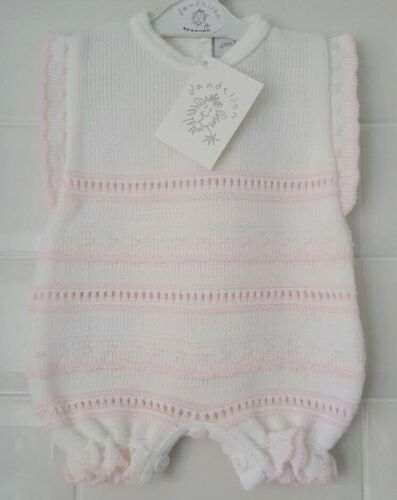 Outfit Spanish Style Baby Girls Knitted Pointelle Romper Suit