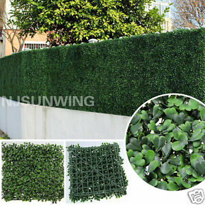 Artificial Boxwood Mat Hedge Fence Greenery Panel Outdoor