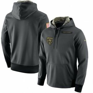 the latest b9a40 36c8c Details about Nike Chicago Bears MEDIUM Salute To Service Hoodie 2016  Authentic NFL FOOTBALL