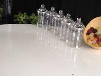 10 X 380ML EMPTY PLASTIC VICTORIAN SWEET CANDY JAR