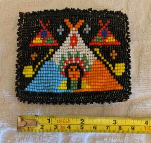 Vintage-Native-Beaded-Coin-Purse-Leather-hand-made