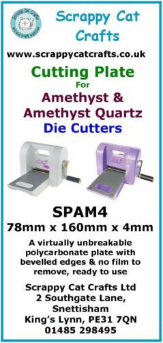spam 4 1 Placa de corte de 4 mm para Amatista por Scrappy Cat