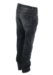 Dolce-amp-Gabbana-Slim-Fit-Men-039-s-Logo-Jeans-Jeans-CREATEUR-d-amp-g-etiquette-logo