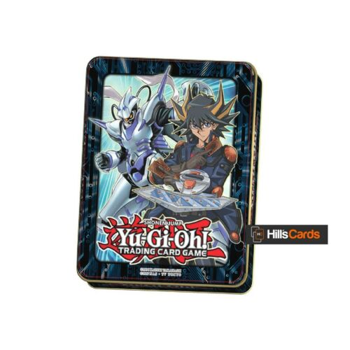 New /& Sealed Inc 3x 16 Card Booster Packs Yu-Gi-Oh Mega Tin 2018 Yusei Fudo