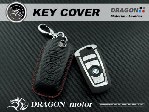 Leather Keyfob Holder CaseChain Cover FIT For BMW F20 F21 F22 F25 F80 F82 BM048B