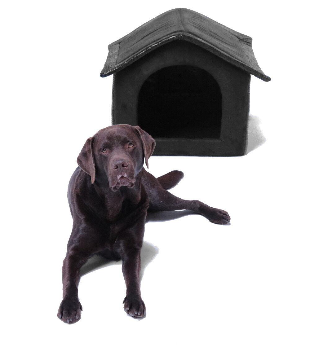 Stoff-Hundehütte braun braun braun - 60x56x60 cm 2661ca