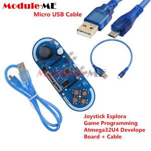 Details about Esplora 5V Joystick Game Programming Atmega32U4 Develope  Board+Cable for Arduino