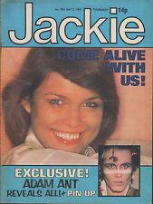 Jackie Magazine 2 May 1981 No. 904     Adam Ant    The Photos    Mick Robertson