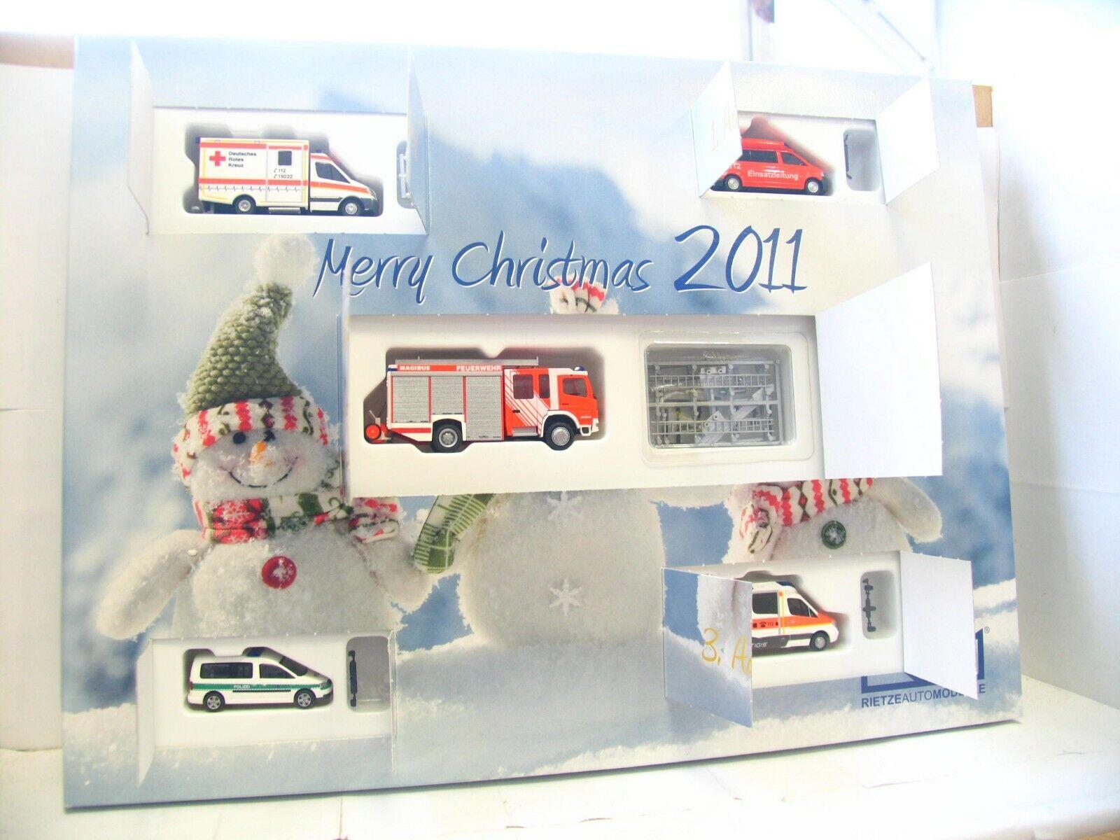 Rietze 1 87 99084 calendrier de l'Avent avec 5 utilisation des véhicules 2011 neuf dans sa boîte (ln982)
