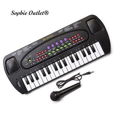 Electronic Keyboard Musical Instrument Kids Organ Mic Birthday Gift + Microphone