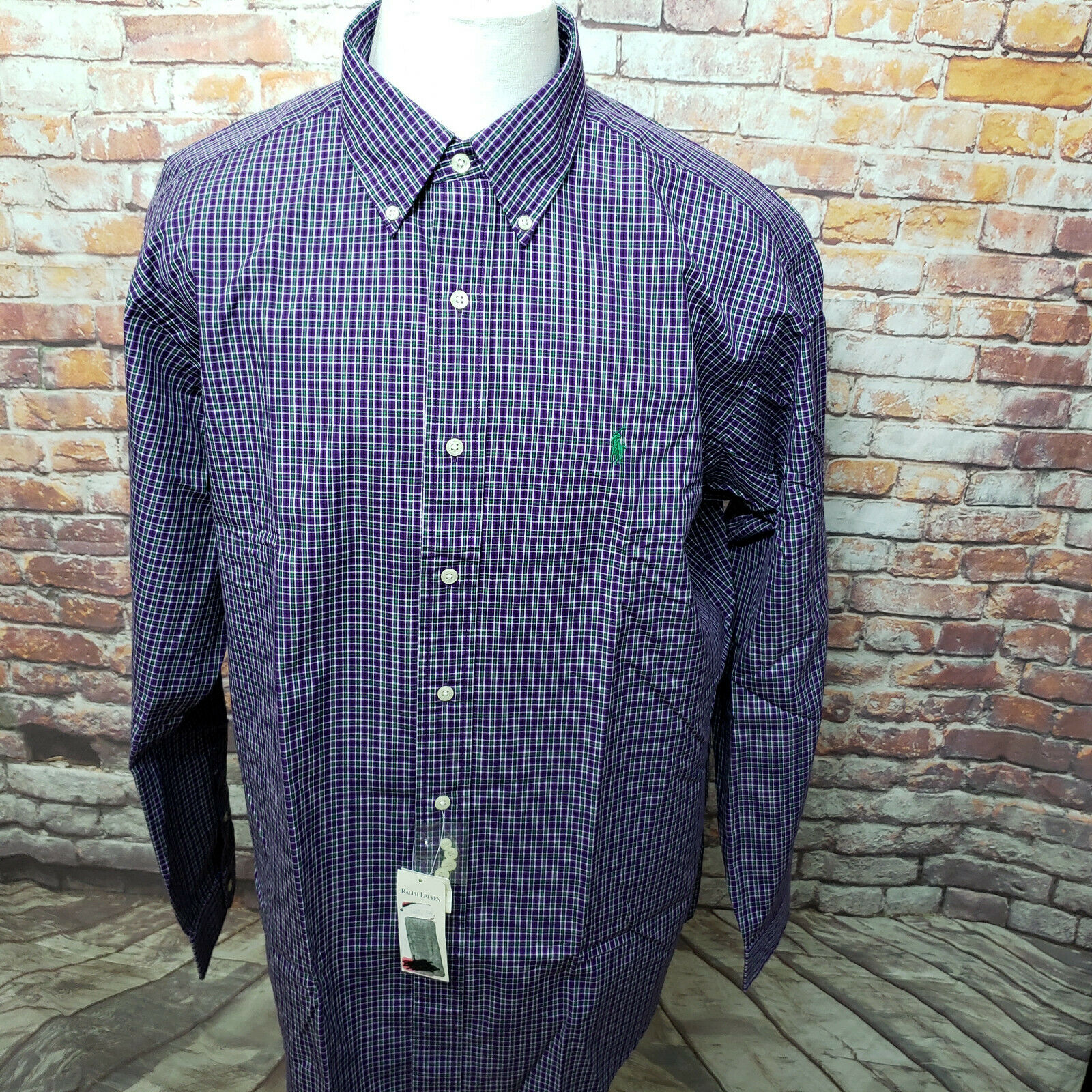 POLO RALPH LAUREN PLAID LONG SLEEVE CLASSIC FIT CASUAL SHIRT SIZE L A27-03