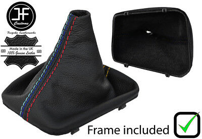 Gear Gaiter with Plastic Frame Black Leather Black Stitch
