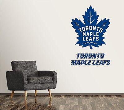 Toronto Maple Leafs Wall Decal Sports Hockey Sticker Vinyl Decor Nhl Atlantico Home Garden Decor Decals Stickers Vinyl Art