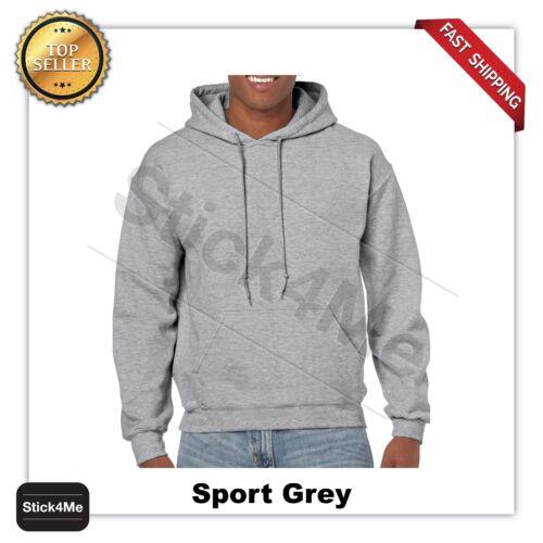 man/'s GILDAN Heavy Fleece BLANK  Hooded Sweatshirt Hoodie G18500  S-5XL