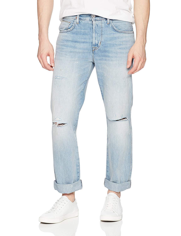 Hudson Herren Dixon Easy Gerades Bein Jeans in Lone Wolf Wolf Wolf Wash Neu 34x32 | Vorzügliche Verarbeitung  05b119