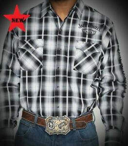 Jack-Daniels-Western-Cowboy-Plaid-Shirt-Long-Sleeve-JD10