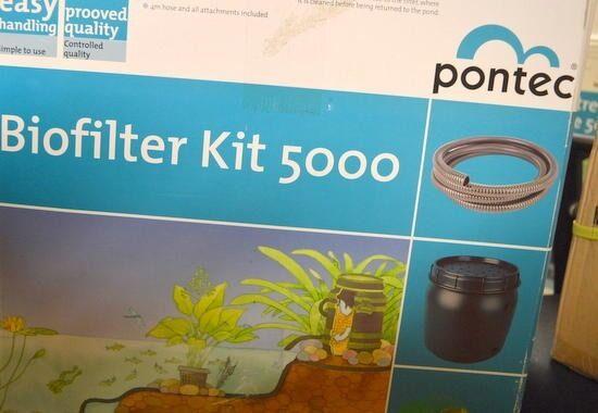 Kit de estanque Pontec Stream  55988, Marathon 1000. bomba de estanque con motor de ahorro de energía.