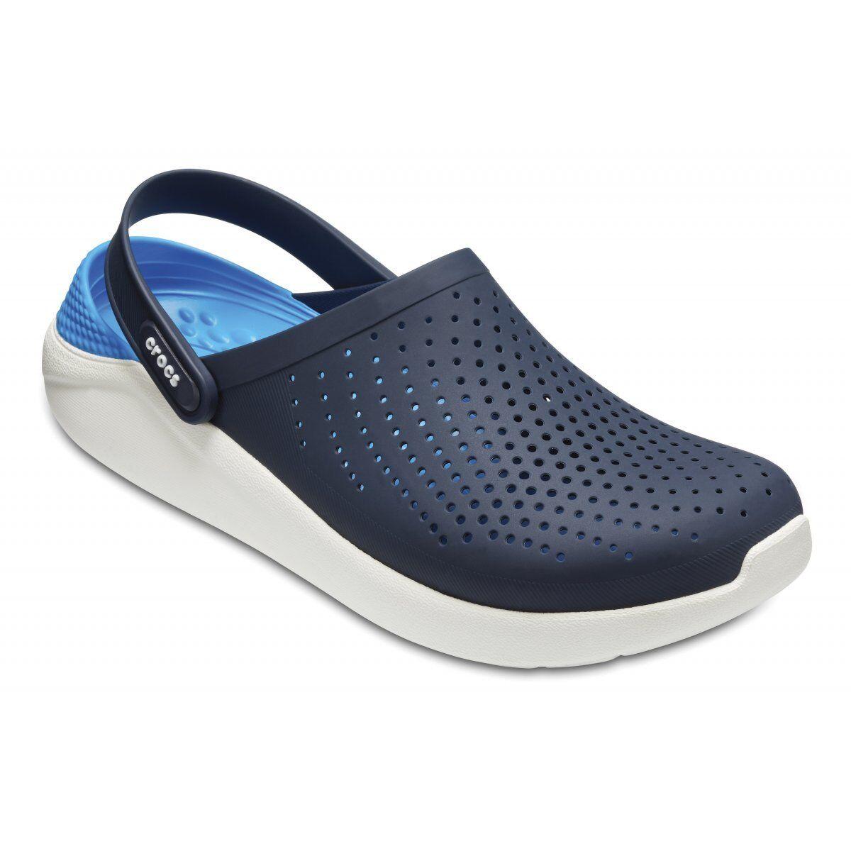 NEW Crocs  Lite Ride Relax Fit Clog scarpe Sandals Navy  bianca 204592 -462  liquidazione