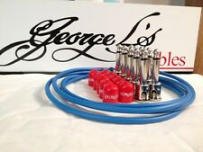 George L's 155 Guitar Pedal Cable Kit .155 Blue / Red / Nickel - 10/10/5