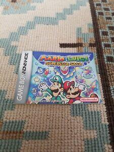 Gameboy Advance Instruction Booklet Mario Luigi Superstar Saga Ebay