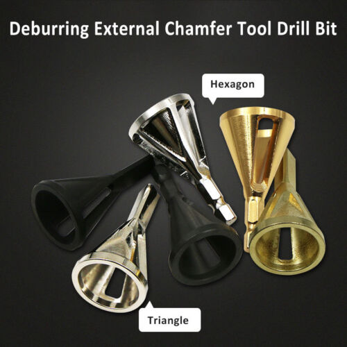 STAINLESS STEEL DEBURRING EXTERNAL CHAMFER BURR REMOVAL TOOL DRILL BIT HAND TOOL