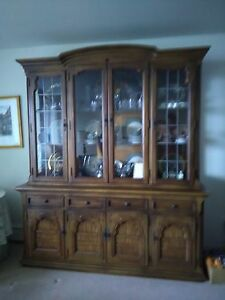 Incroyable Image Is Loading Furniture Mahogany 4 PC Bedroom China Cabinet Matching