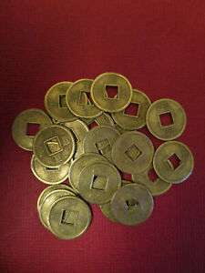 Practical-Geocaching-13mm-Brass-Oriental-Lucky-Coins-25-pcs-Free-Freight