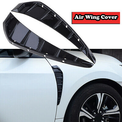Side Fender Vent Cover Side Wing Air Vent Hood Intake Fender Cover Trim Fit for Hon-da Ci-vic