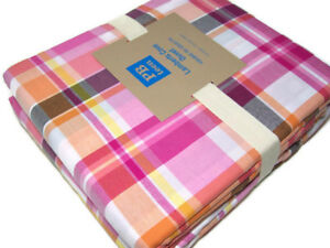 Pottery-Barn-Teen-Multi-Colors-Lamberts-Cove-Plaid-Full-Queen-Duvet-Cover-New