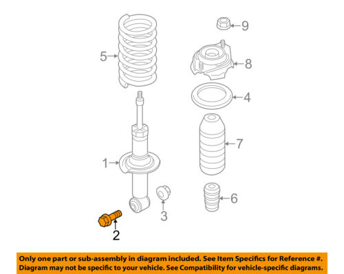 SUBARU OEM 11-14 Impreza Rear Suspension-Strut Bolt 901000357