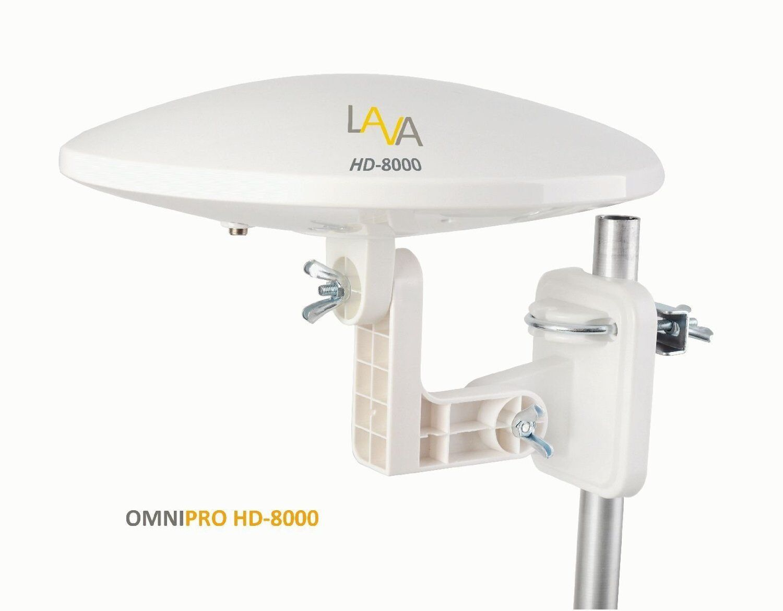 TVA035HD8000 photogearetc LAVA HD-8000 OMNI-DIRECTIONAL 360° DIGITAL HDTV AMPLIFIED TV ANTENNA VHF UHF FM